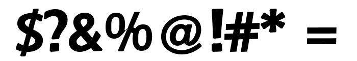 Baar Zeitgeist Font OTHER CHARS