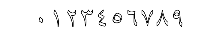 Baaraan Outline Font OTHER CHARS