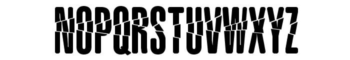 Babalusa Cut Font UPPERCASE