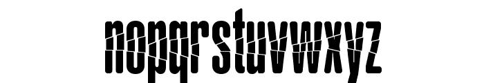 Babalusa Cut Font LOWERCASE