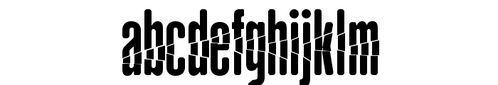 BabalusaCut Font LOWERCASE