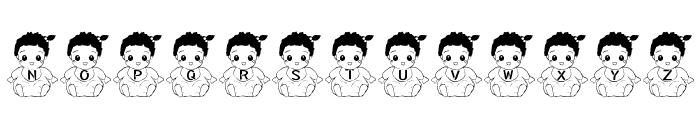 Baby Font Font UPPERCASE