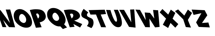 Babydoo Oblique Font UPPERCASE