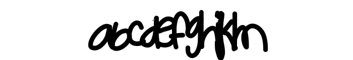 Babypa Font LOWERCASE