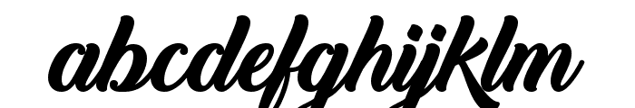 Back to Black Bold Demo Font LOWERCASE