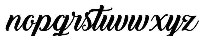 Back to Black Demo Font LOWERCASE