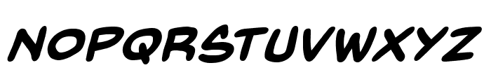 BackIssuesBB-BoldItalic Font UPPERCASE