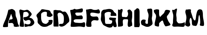 BackSplatter Drippy Font UPPERCASE