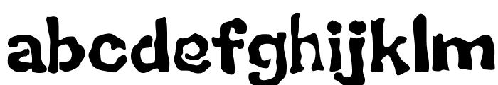 BackSplatter Drippy Font LOWERCASE