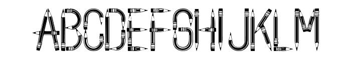 BackToSchool Font UPPERCASE