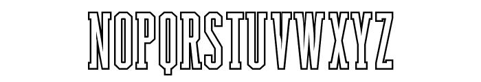 Backboard Outline Font UPPERCASE