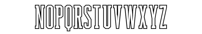 Backboard Outline Font LOWERCASE