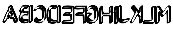 Backcab Original Font UPPERCASE