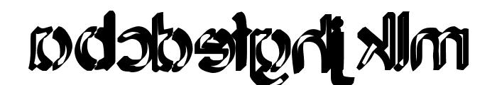 Backcab Original Font LOWERCASE