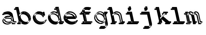 Backfire Medium Font LOWERCASE