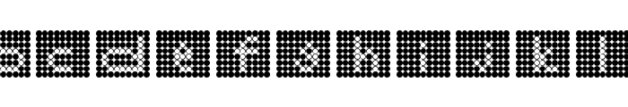 Backflash Inverted Regular Font LOWERCASE