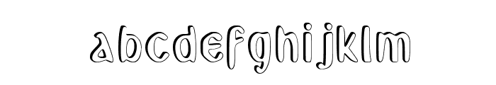 Backoff_shadow Font LOWERCASE