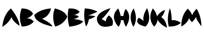Backside Air Font UPPERCASE