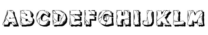 Backtrack Regular Font UPPERCASE