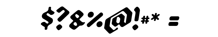 Backyard Black PERSONAL Italic Font OTHER CHARS