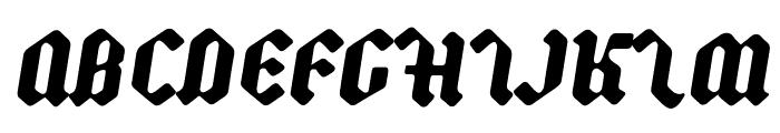 Backyard Black PERSONAL Italic Font UPPERCASE