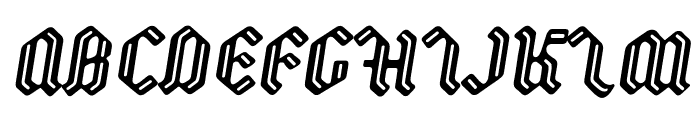 Backyard PERSONAL Italic Font UPPERCASE