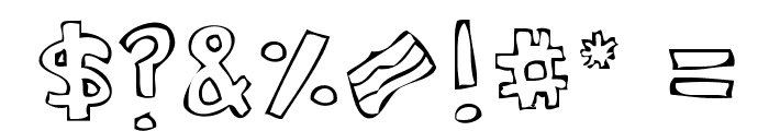 Bacon [taste the bacon] Font OTHER CHARS