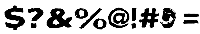 Bactosaurus Font OTHER CHARS