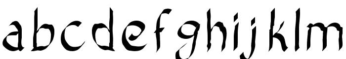 Bad Calligraphic Font LOWERCASE
