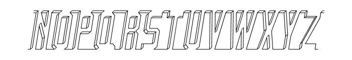 Bad Eyes Wireframe Italic Font UPPERCASE
