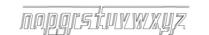 Bad Eyes Wireframe Italic Font LOWERCASE