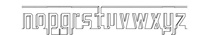 Bad Eyes Wireframe Regular Font LOWERCASE