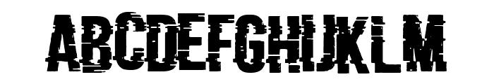 Bad Signal Font UPPERCASE
