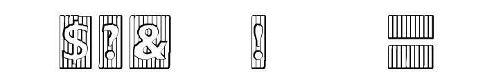 BadBaltimore Beveled Font OTHER CHARS