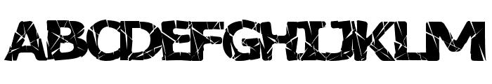 BadLuck Font UPPERCASE