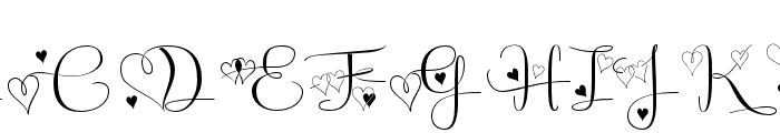 Badinerie LoveDemo Font UPPERCASE