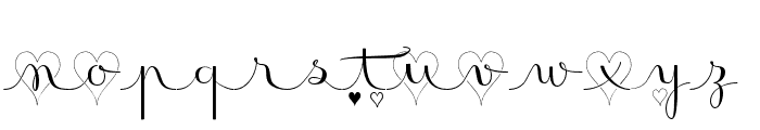 Badinerie LoveDemo Font LOWERCASE
