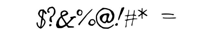 BadlyDrawnGaramond Font OTHER CHARS