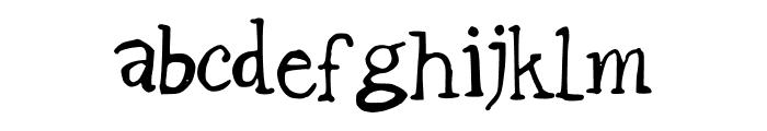 BadlyDrawnGaramond Font LOWERCASE