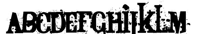 Bagpack Font UPPERCASE