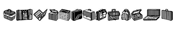 Bags and stuff II Font UPPERCASE
