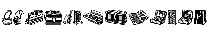 Bags and stuff II Font LOWERCASE