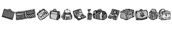 Bags and stuff Font LOWERCASE