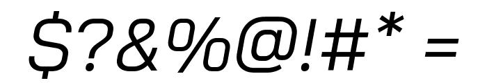 Bai Jamjuree Italic Font OTHER CHARS