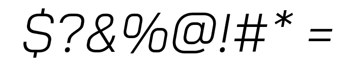Bai Jamjuree Light Italic Font OTHER CHARS