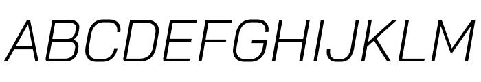 Bai Jamjuree Light Italic Font UPPERCASE