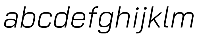 Bai Jamjuree Light Italic Font LOWERCASE