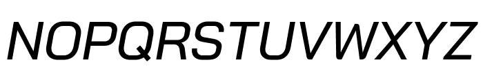 Bai Jamjuree Medium Italic Font UPPERCASE
