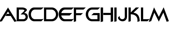 Bajoran Regular Font LOWERCASE