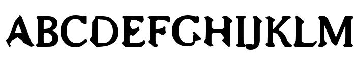 Bajsmaskin tjock sprutande Font UPPERCASE